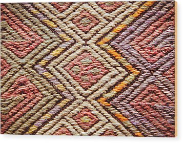 Turkish Rug Wood Print by Tom Gowanlock