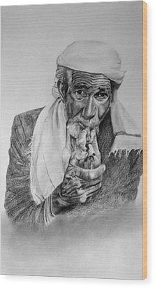 Turkish Smoker 2 Wood Print