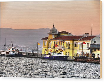 Turkish Water Police Station Wood Print by Mark Alexander