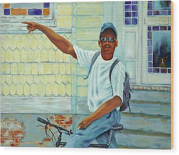 Wood Print featuring the painting Turn Right On King Street by Dwain Ray