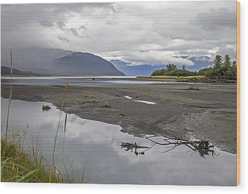 Turnagain Arm Clouds Wood Print by Saya Studios