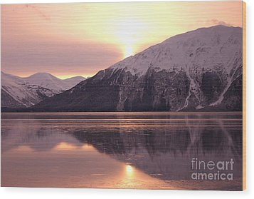 Turnagain Arm Morning Wood Print by Crystal Magee