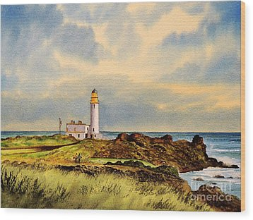 Turnberry Golf Course 9th Tee Wood Print