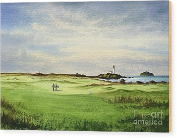Turnberry Golf Course Scotland 12th Tee Wood Print