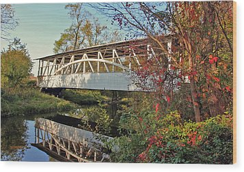 Wood Print featuring the photograph Turner's Covered Bridge by Suzanne Stout