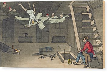 Turning In - And Out Again, Plate Wood Print by Thomas Rowlandson