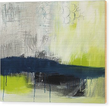 Turning Point - Contemporary Abstract Painting Wood Print by Linda Woods