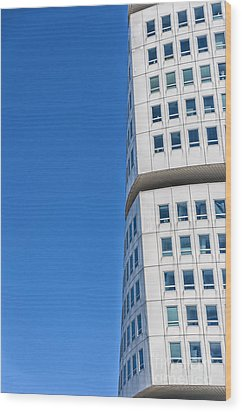 Turning Torso Skyscraper Wood Print by Antony McAulay