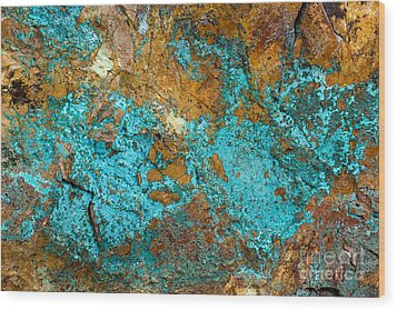 Wood Print featuring the photograph Turquoise Abstract by Chris Scroggins