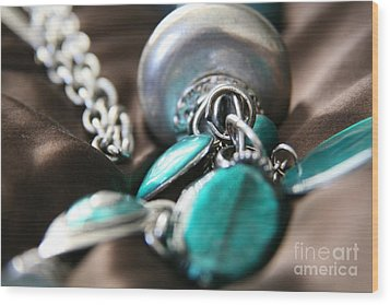 Wood Print featuring the photograph Turquoise And Silver by Lynn England