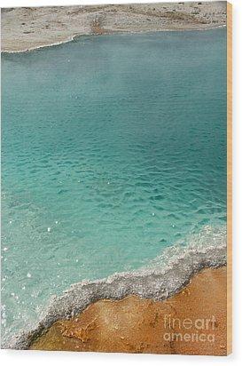 Turquoise Jewels Wood Print