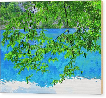 Wood Print featuring the photograph Turquoise Lake by Ramona Johnston