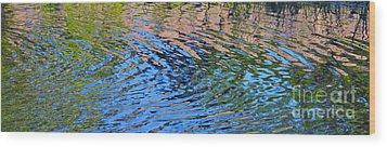 Turquoise Luminesence Wood Print by Cindy Lee Longhini