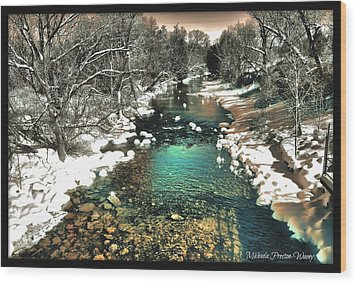 Wood Print featuring the photograph Turquoise River  by Michaela Preston
