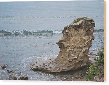 Turquoise Sea Wood Print
