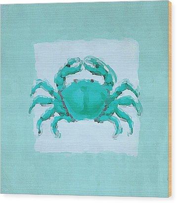 Turquoise Seashells I Wood Print by Lourry Legarde