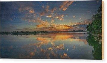 Turquoise Sunrise Wood Print by Dan Holland