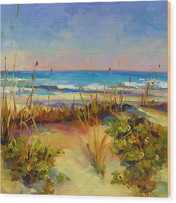 Turquoise Tide Wood Print by Chris Brandley