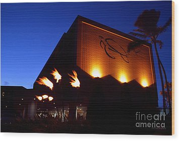 Turtle Bay Resort After Sunset Wood Print