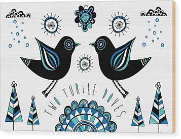 Turtle Dove Wood Print by Susan Claire