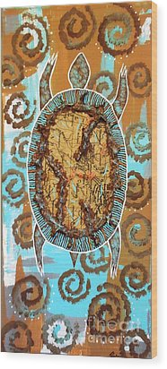 Turtle Journey Wood Print