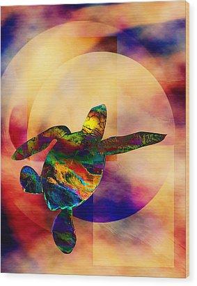 Turtle Medicine Wood Print by Bruce Manaka