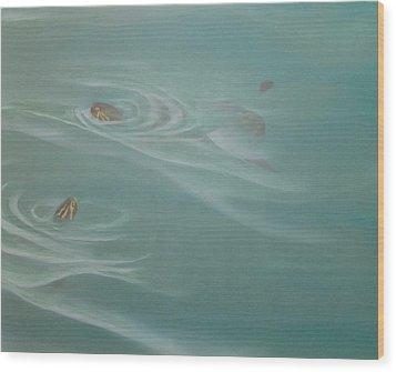 Turtle Pond II Wood Print