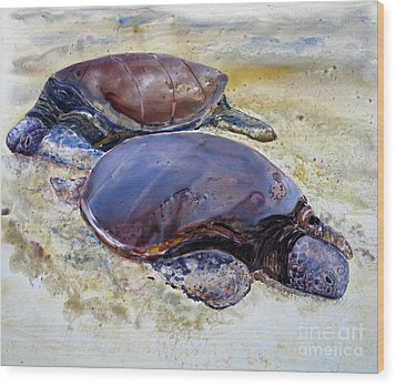 Turtle R And R Wood Print