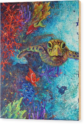 Turtle Wall 2 Wood Print