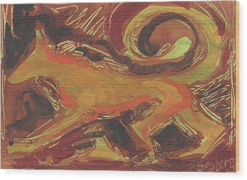 Tusany Dog Italy Wood Print