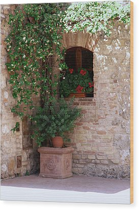 Wood Print featuring the photograph Tuscan Corner by Sandy Molinaro