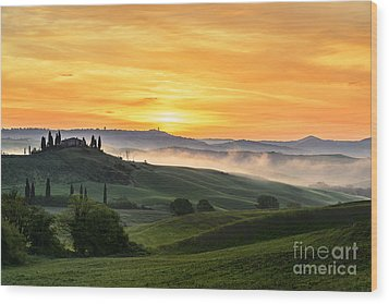 Tuscan Countryside Wood Print by Yuri Santin