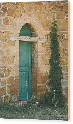 Tuscan Door Wood Print by Clint Brewer