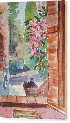 Tuscan Doorway Wood Print