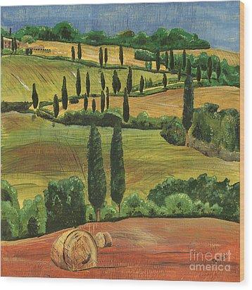 Tuscan Dream 1 Wood Print by Debbie DeWitt