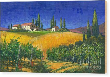 Tuscan Evening Wood Print by Michael Swanson