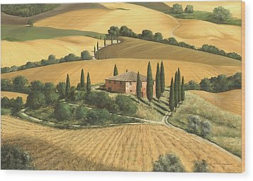 Tuscan Gold - Sold Wood Print by Michael Swanson