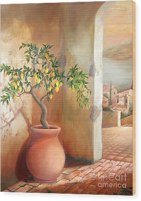 Tuscan Lemon Tree Wood Print