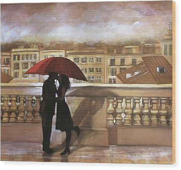 Tuscan Love Wood Print by Gregory DeGroat
