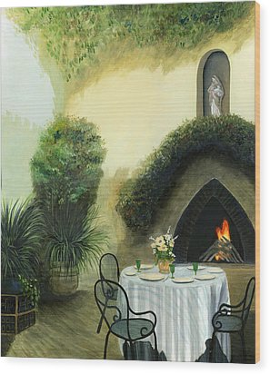 Tuscan Luncheon Wood Print by Cecilia Brendel