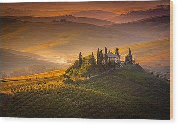 Tuscan Morning Wood Print