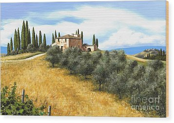 Tuscan Sentinels Wood Print by Michael Swanson
