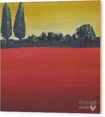 Tuscan Sunrise Wood Print by Venus