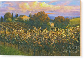 Tuscan Sunset 36 X 60 - Sold Wood Print by Michael Swanson