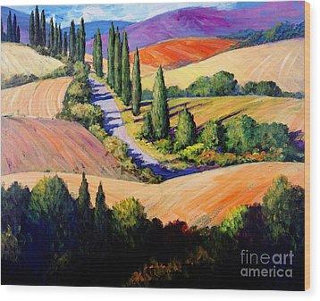 Tuscan Trail Wood Print
