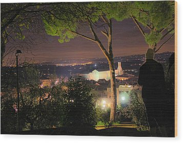 Tuscan View Wood Print