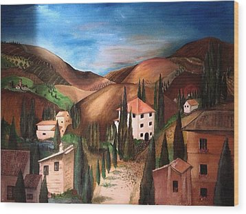 Tuscany Wood Print by Catherine Visconte