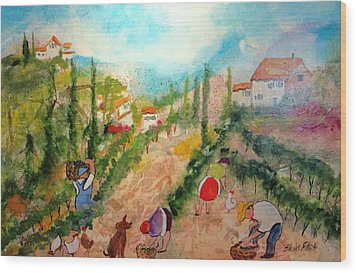Tuscany Harvest  Wood Print