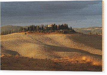 Tuscany Hills Wood Print by Alex Sukonkin