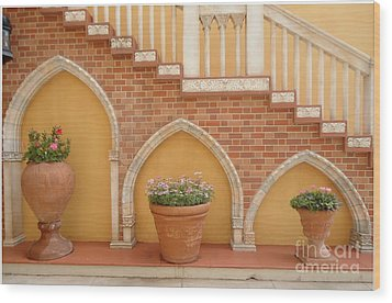 Tuscany Style Welcome Wood Print by Ann Johndro-Collins